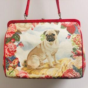 vintage Isabella Fiore Pug Dog frame handbag